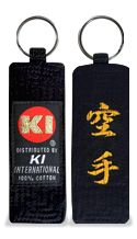Embroidered Black Belt Key Holder (Karate)
